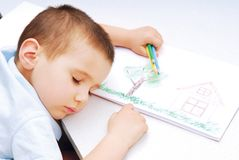 De dromen van kinderen royalty-vrije stock afbeeldingen