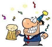 De dronken Mens van Nieuwjaren Stock Foto