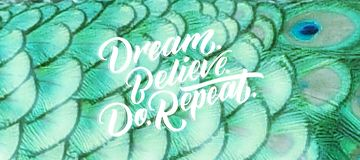 De droom, gelooft, om te herhalen Royalty-vrije Stock Afbeeldingen