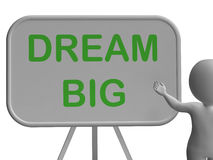 De droom Grote Whiteboard toont Hoge Aspiraties en Doelstellingen royalty-vrije illustratie