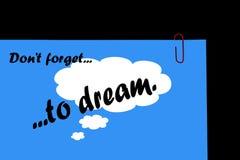 De droom, Plan, bereikt, Succes. stock foto