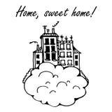 De droom van de illustratie van de huisschets Royalty-vrije Stock Afbeeldingen