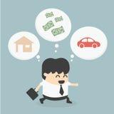 De droom van zakenmanWalking Stock Fotografie