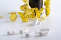 de drug verliest Slanke het Dieet van het gewichtsconcept eet pillengezondheidszorg en medi Stock Afbeelding