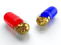 De drugs van het geld Stock Foto