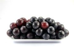 De druiven isoleren op witte achtergrond Royalty-vrije Stock Afbeelding
