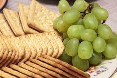 De druiven van Bisquits en van de wijn Stock Afbeelding