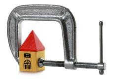 De Druk van de hypotheek Stock Afbeelding