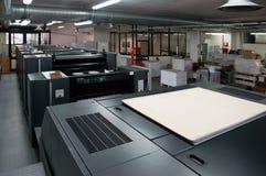 De druk van de pers - Gecompenseerde machine Stock Foto
