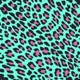 De druk van de luipaardhuid op blauwe achtergrond vector illustratie