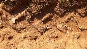 De druk van de wegband op grond Royalty-vrije Stock Foto