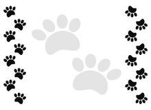 De drukkader van de kattenpoot op witte achtergrond stock illustratie