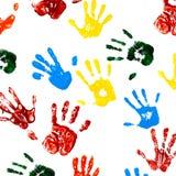Drukken van handen van kind stock foto