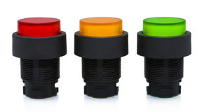 De drukknop van de kleur in lijn royalty-vrije stock afbeelding