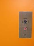 De drukknop van de lift stock afbeelding