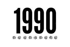 de Drukmanier van de slogan 1990 uitdrukking grafische vector het van letters voorzien kalligrafie stock illustratie