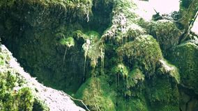 De druppel van waterdalingen van de waterval stock video