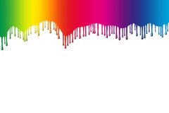 De druppels van de regenboog Stock Fotografie