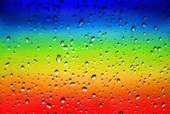 De Druppeltjes van de regenboog Royalty-vrije Stock Foto