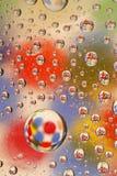 De druppeltjes van het water op glas   Stock Afbeelding