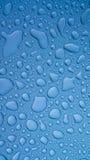 De druppeltjes van het water op metaal Royalty-vrije Stock Fotografie