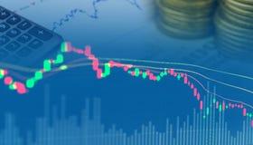 De dubbele blootstelling van geldinvestering Stock Afbeelding