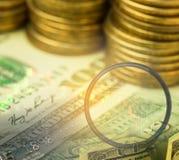 De dubbele blootstelling van investering Stock Foto