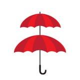 De dubbele dubbele geïsoleerde laag van het beschermingsconcept van paraplu Royalty-vrije Stock Afbeelding