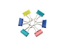 De dubbele kleurrijke klem van de cirkelpastelkleur Royalty-vrije Stock Afbeelding