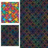 De dubbele ster combineert kleurrijk symmetrie naadloos patroon vector illustratie