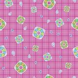 De dubbele vierkante vlotter zwemt patroon royalty-vrije illustratie