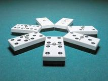 De Dubbelen van de domino stock afbeeldingen