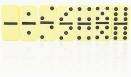De dubbelen van de domino die in orde worden bevonden Royalty-vrije Stock Afbeelding