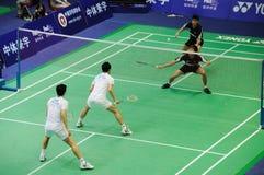 De dubbelen van mensen, Azië van het Badminton kampioenschappen 2011 royalty-vrije stock foto's