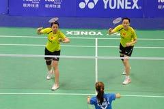 De Dubbelen van vrouwen, Azië van het Badminton kampioenschappen 2011 Royalty-vrije Stock Afbeelding