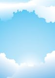 De duidelijke Blauwe Achtergrond van de Hemel Royalty-vrije Stock Afbeelding