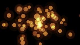 De duidelijke Bokeh-vlieg van Deeltjesfonkelingen aan het scherm stock video