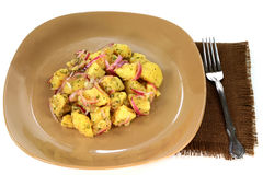 De duidelijke gastronomische salade van de aardappelsveganist Royalty-vrije Stock Fotografie