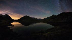 De duidelijke omwenteling van de Melkweg stock videobeelden