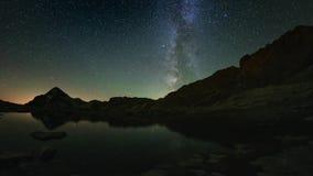 De duidelijke omwenteling van de Melkweg stock video