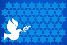 De duif van de vrede op blauwe achtergrond Royalty-vrije Stock Afbeelding