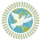 De duif van de wereldvrede Royalty-vrije Stock Foto
