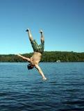 De duik van de mens Stock Foto
