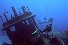 De duik van het wrak Royalty-vrije Stock Foto