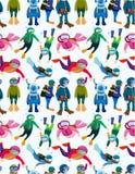 De duiker naadloos patroon van het beeldverhaal vector illustratie