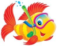 De duiker van vissen Stock Fotografie