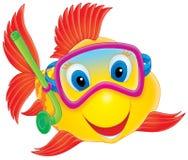 De duiker van vissen royalty-vrije illustratie