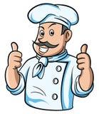 De duim van de chef-kok omhoog Royalty-vrije Stock Afbeelding