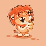De duim van de leeuwwelp omhoog Royalty-vrije Stock Afbeeldingen
