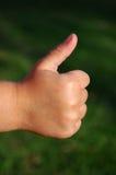 De duim van het kind omhoog Royalty-vrije Stock Fotografie